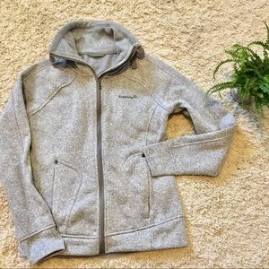 Avalanche Sweater Jacket Size Small Grey Heather